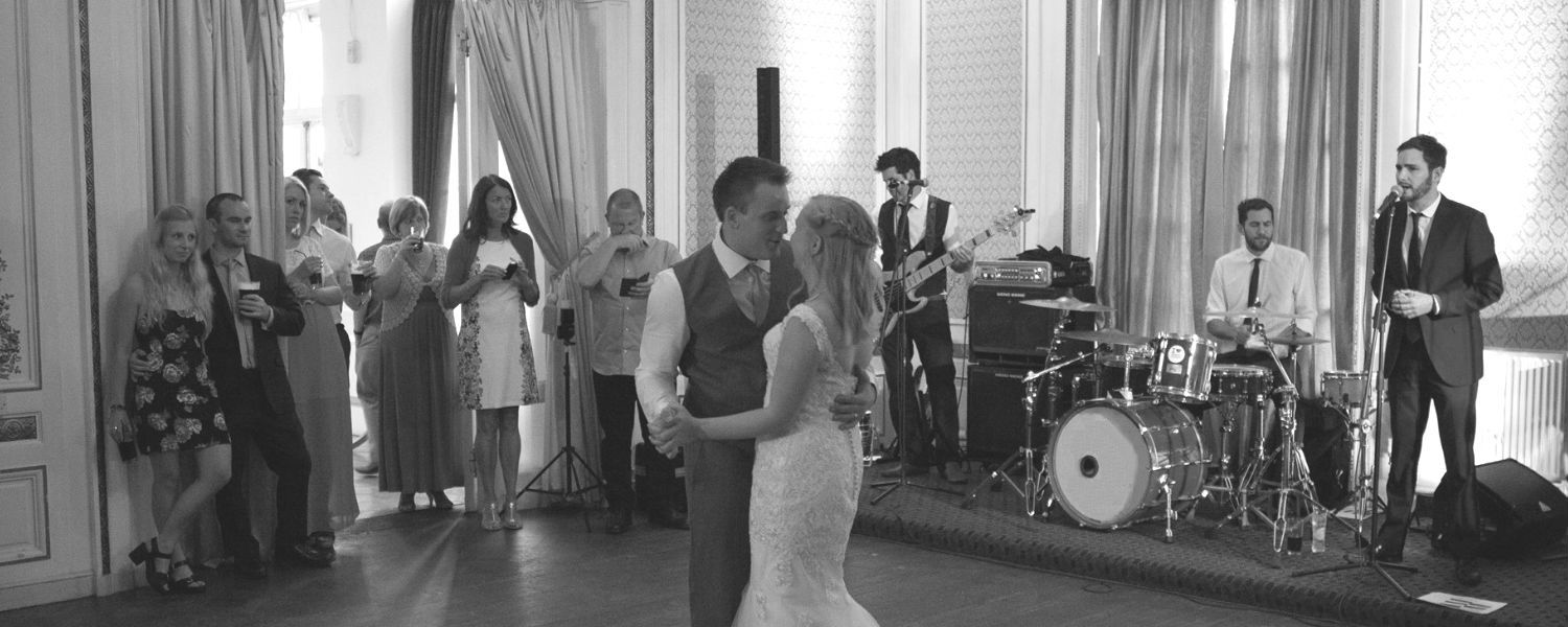 Band performing first dance at a wedding